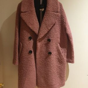 Topshop Boucle Textured Coat sz S